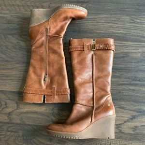 ead1c267787 Women Ugg Leather Wedge Boots on Poshmark